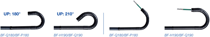BFQ180/BF-P180 UP:180°, BF-H190/BF-Q190 UP:210°